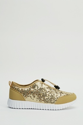 Sequin Contrast Trainers