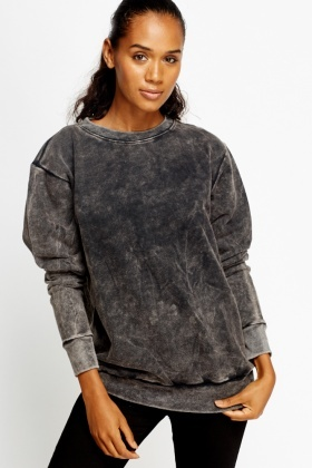 Charcoal Washed Out Jumper