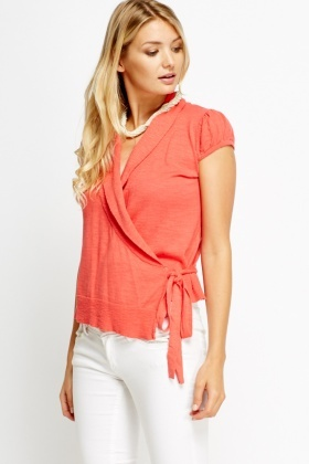 Wrapped Tie Knit Top