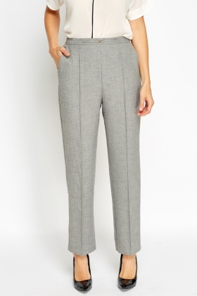 Pressed Grey Formal Trousers