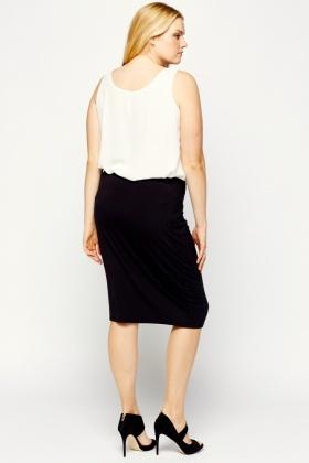 bodycon black midi skirt just 163 5
