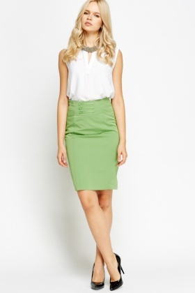 High Waisted Formal Pencil Skirt - Just £5
