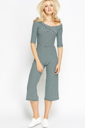 Striped Wrapped Jumpsuit