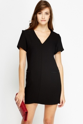 Mini Black Shift Dress