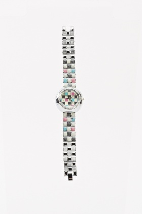 Colour Block Strap Watch