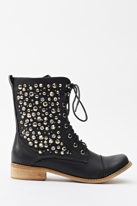 Studded Pointed Boots