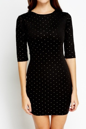 Embellished Bodycon Mini Dress