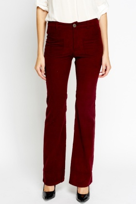 Flared Cord Trousers