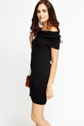 Off Shoulder Jumper Dress