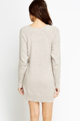Ribbed Jumper Dress