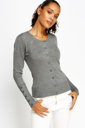 Button Front Casual Cardigan