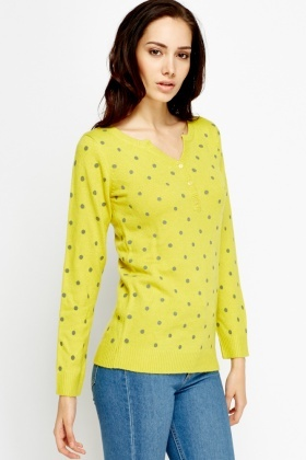 Elbow Patch Dotted Sweater