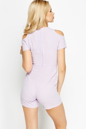 Cold Shoulder Fitted Playsuit