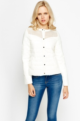 Quilted Contrast Jacket