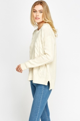 Cable Knit Casual Jumper