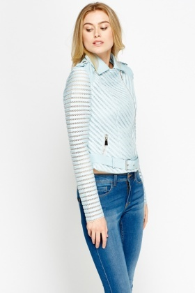 Mesh Insert Stripe Jacket
