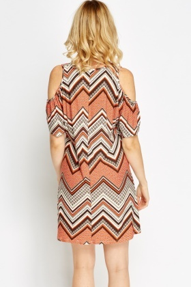 Cold Shoulder Retro Dress