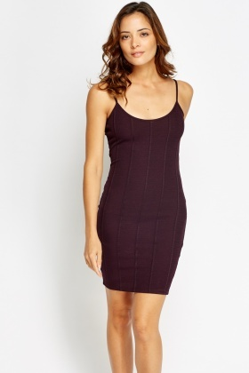 Mulberry Bodycon Slip On Dress