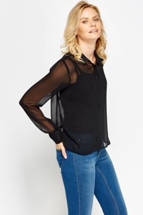 Sheer Casual Blouse