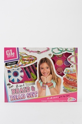 Girls Jewellery 2 In 1 Braid And Bead Set