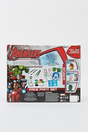 Kids Creativity Avengers Face Paint Set