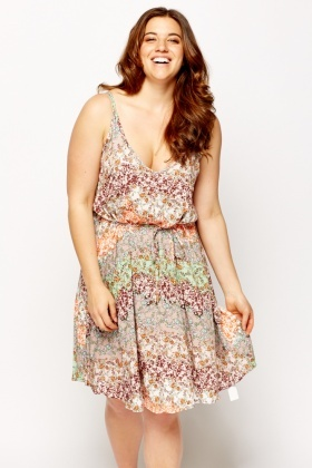 Multi Print Cami Swing Dress