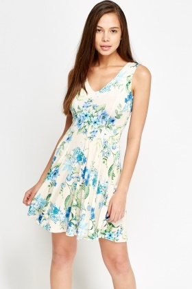 Floral Pastel Swing Dress