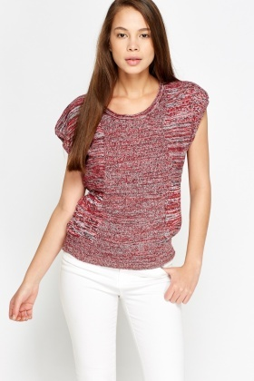Speckled Knit Box Top