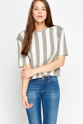 Stripped Knitted Top