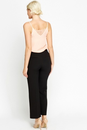 High Waist Classic Black Trousers