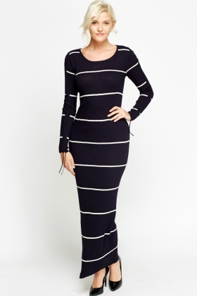Mono Stripe Maxi Dress - Just £5