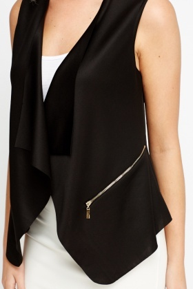 Open Front Sleeveless Blazer