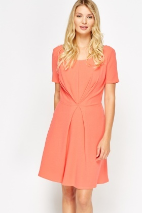 Twist Front Formal Skater Dress