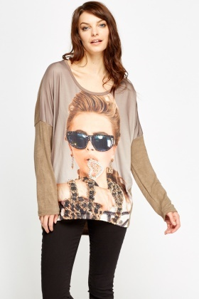 Encrusted Fashion Girl Top