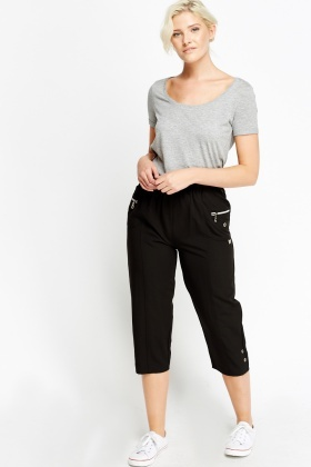 Elasticated 3/4 Slim fit Trousers