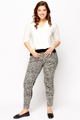Pocket Front Contrast Leggings