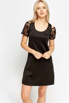 Cold Lace Shoulder Dress