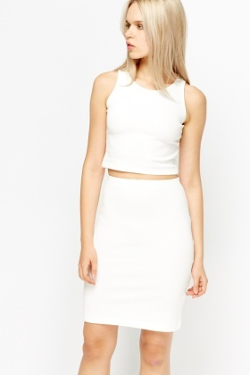 Crop Top And Skirt Co-Ord Set