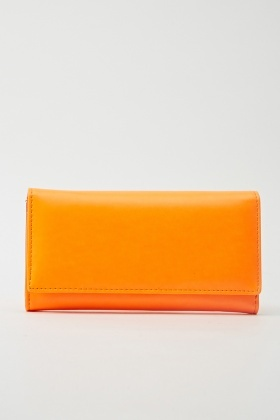 Faux Leather Flap Front Purse