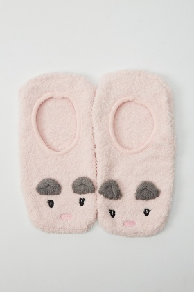 Pink Ankle Slippers