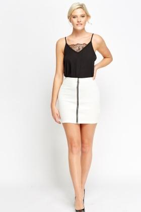 d84b50b15bc8 Zip Front Mini Skirt - Just £5