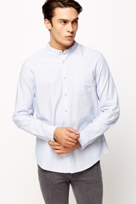 Round Pin Stripe Shirt