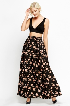 Wrap Floral Maxi Skirt - Just £5