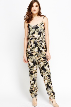 Wild Floral Elasticated Jumpsuit
