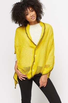 Reversible Knitted Shawl