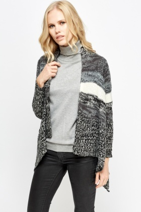 Asymmetric Sides Knitted Cardigan
