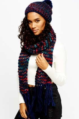 Loose Chunky Knit Hat And Scarf Set - Just £5 b9b6f14d9fc