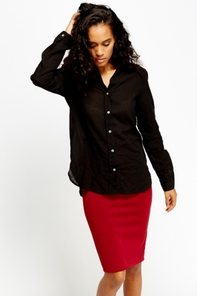Shirred Casual Blouse