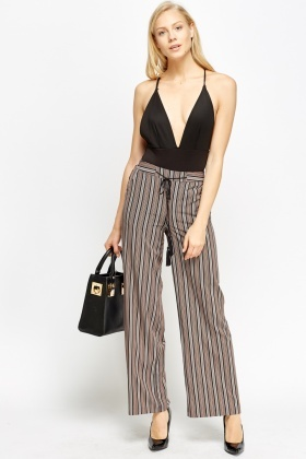 Multi Stripe Wide Trousers