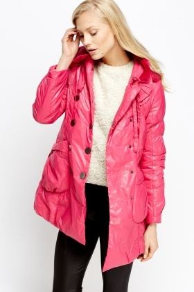Pink Belted Double Breasted Coat - Just £5